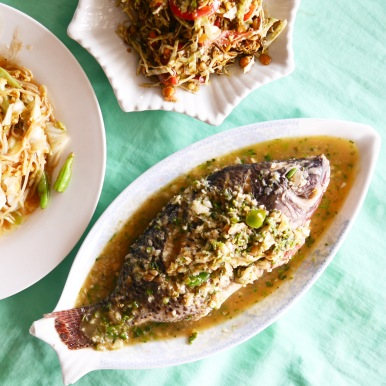 Steamed fish with lime - Shwe Kyar Pwint