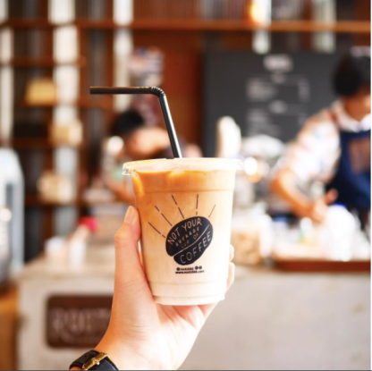 Iced Latte from Roots Coffee at The Commons