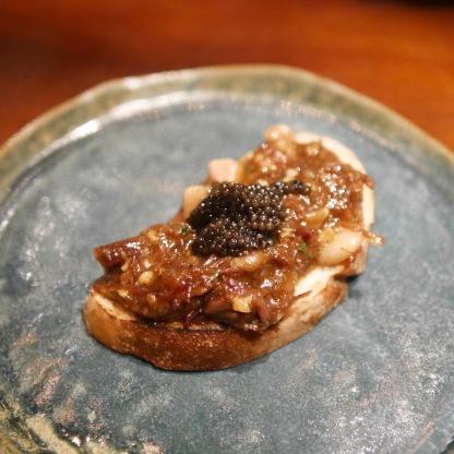 Wagyu short ribs with caviar