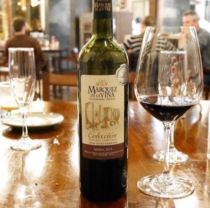 Bolivian Wine, Gustu - La Paz, Bolivia