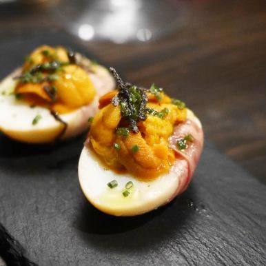 Luka - sea urchin smoked egg